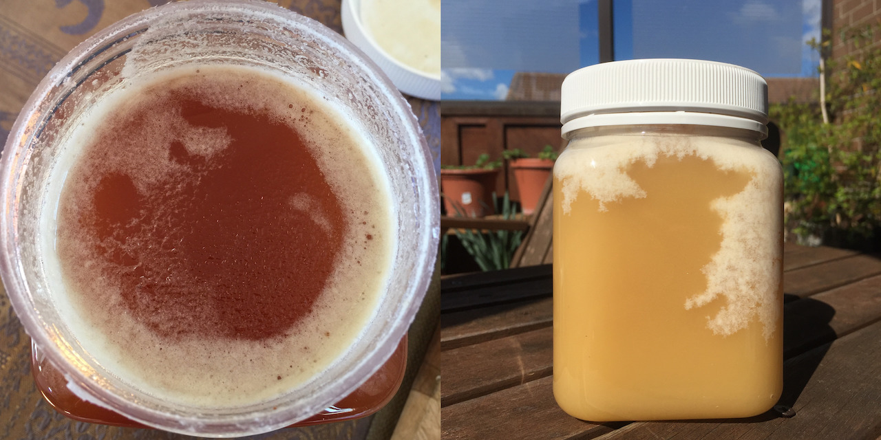 White Foam on Raw Honey