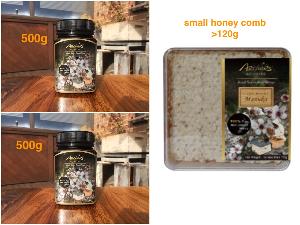 Special - 2 x 500g Manuka Honey + 120g Manuka Comb Honey
